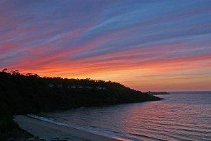 The sunset in Carbis Bay is, in our opinion, one of the best beach sunsets in Cornwall. We are of course biased but the magical colour displayed wows us time after time. This image was taken from one of our properties at Carbis Beach apartments. www.carbisbayholidays.co.uk