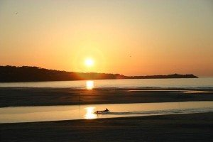 Sunset over Hayle Towans and St Ives Bay. One of the most beautiful sunsets in West Cornwall. www.carbisbayholidays.co.uk