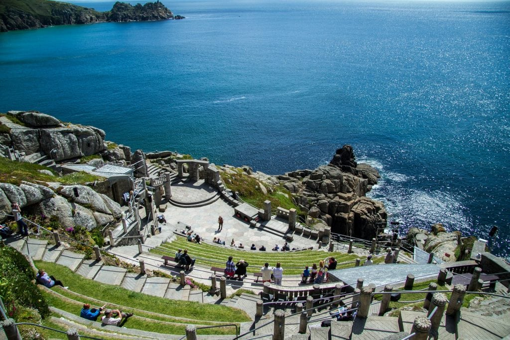 Birdseye view of Minack Theatre Cornwall