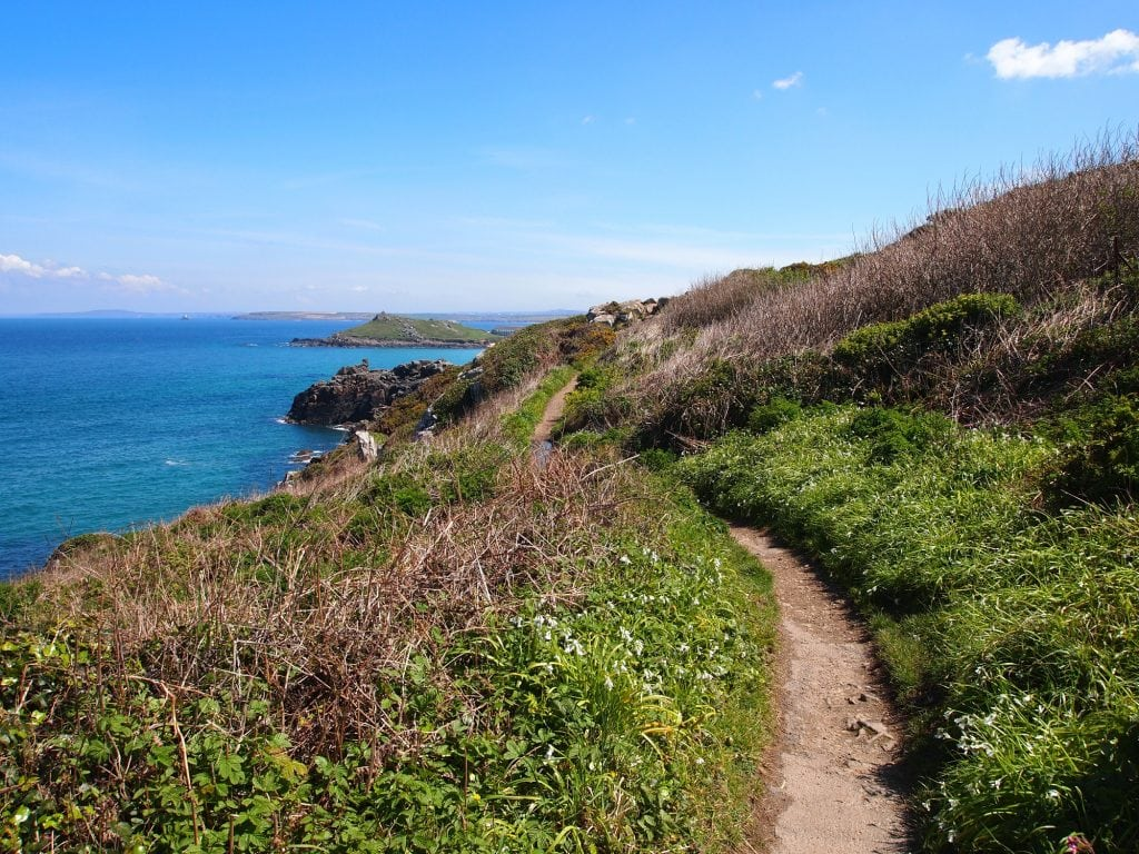 The rugged Zennor to St Ives Walk on a clear day