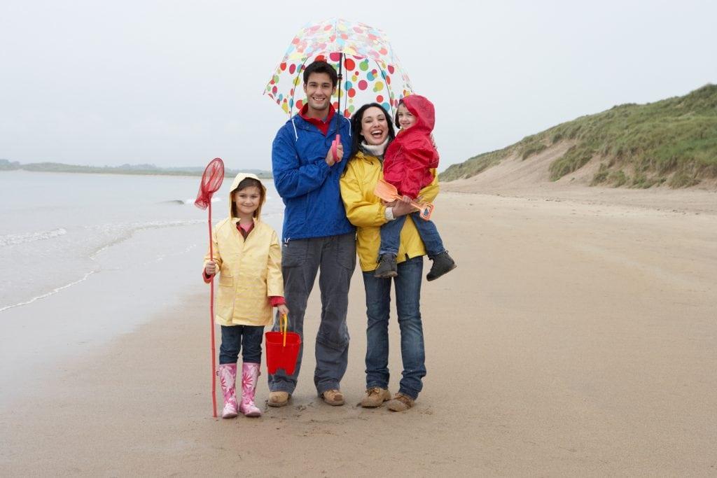 Rainy Day, Cornwall, Beach Walk