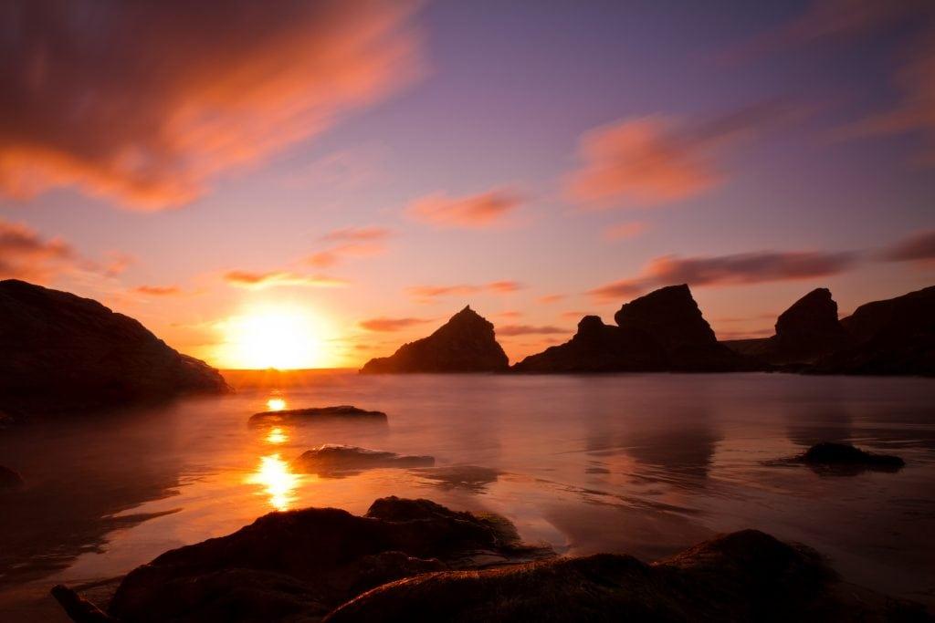 Sunset Spots in Cornwall, Bedruthan Steps