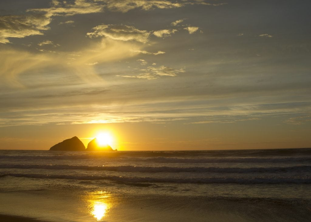 Sunset Spots in Cornwall, Holywell Bay