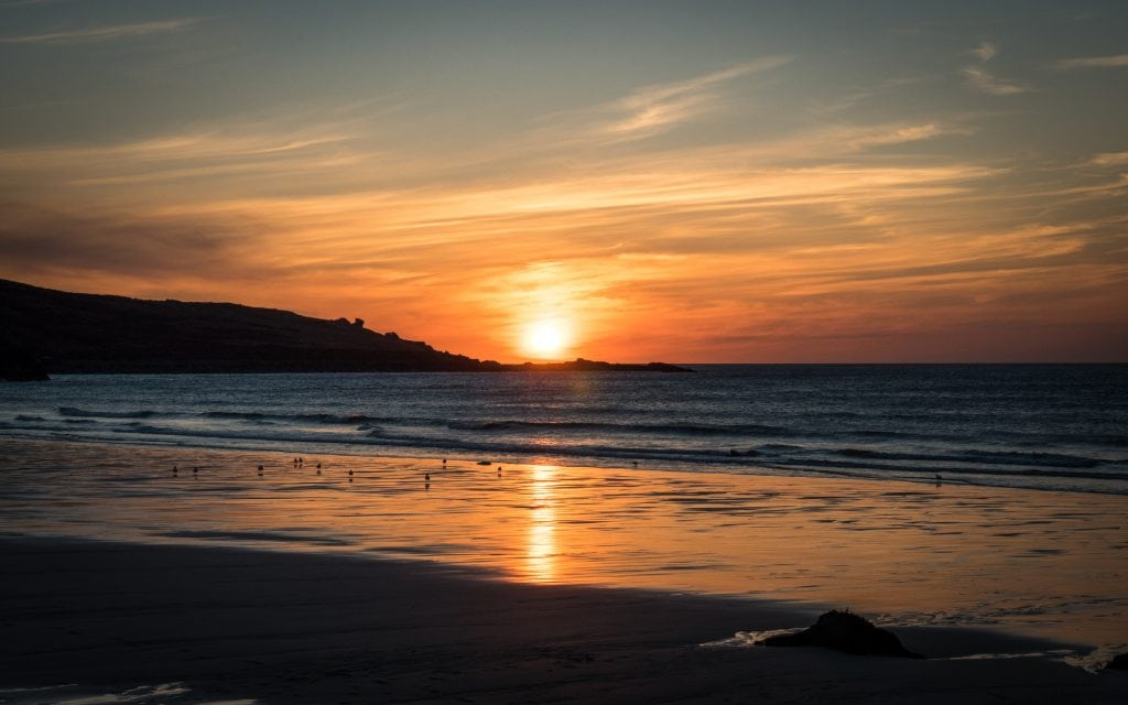 Sunset Spots in Cornwall, Porthmeor Beach