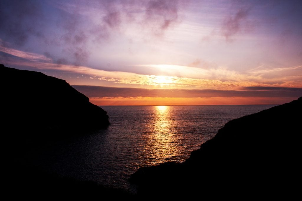 Sunset Spots in Cornwall, Tintagel
