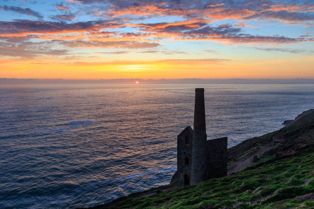 Sunset Spots in Cornwall, Wheal Coates