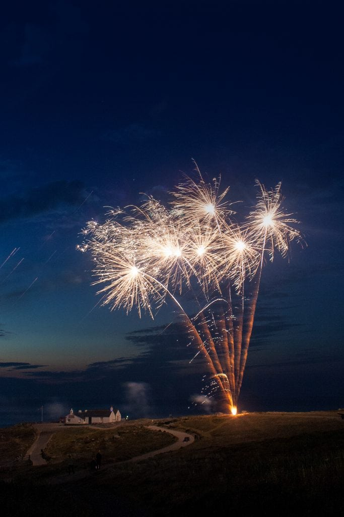Family Holidays in Cornwall, Fireworks