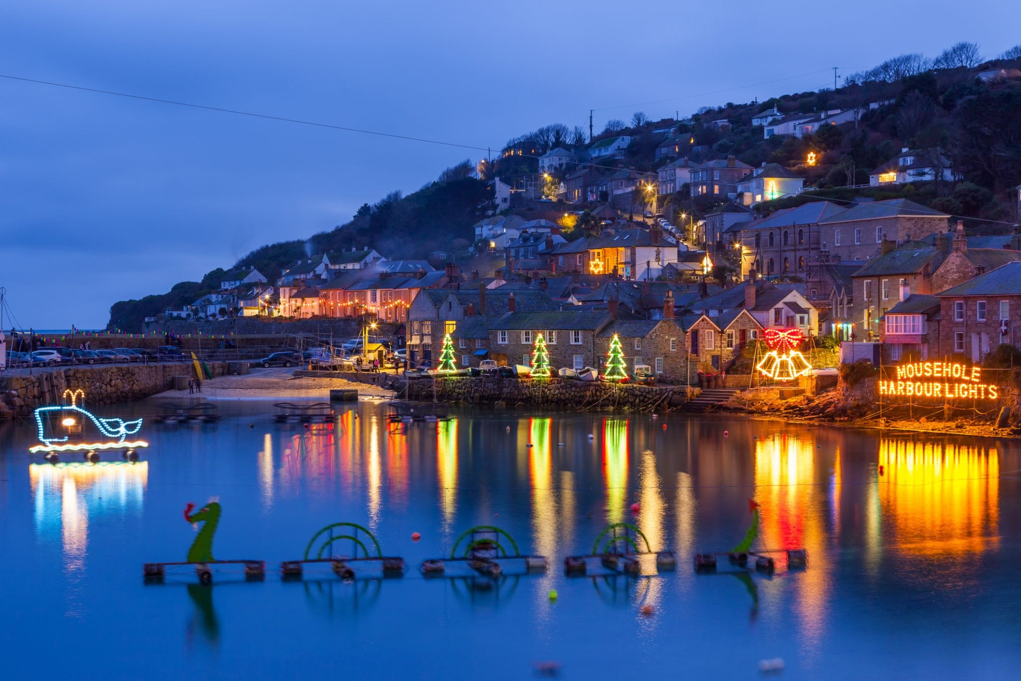 Romantic Things To Do In Cornwall, Mousehole Lights