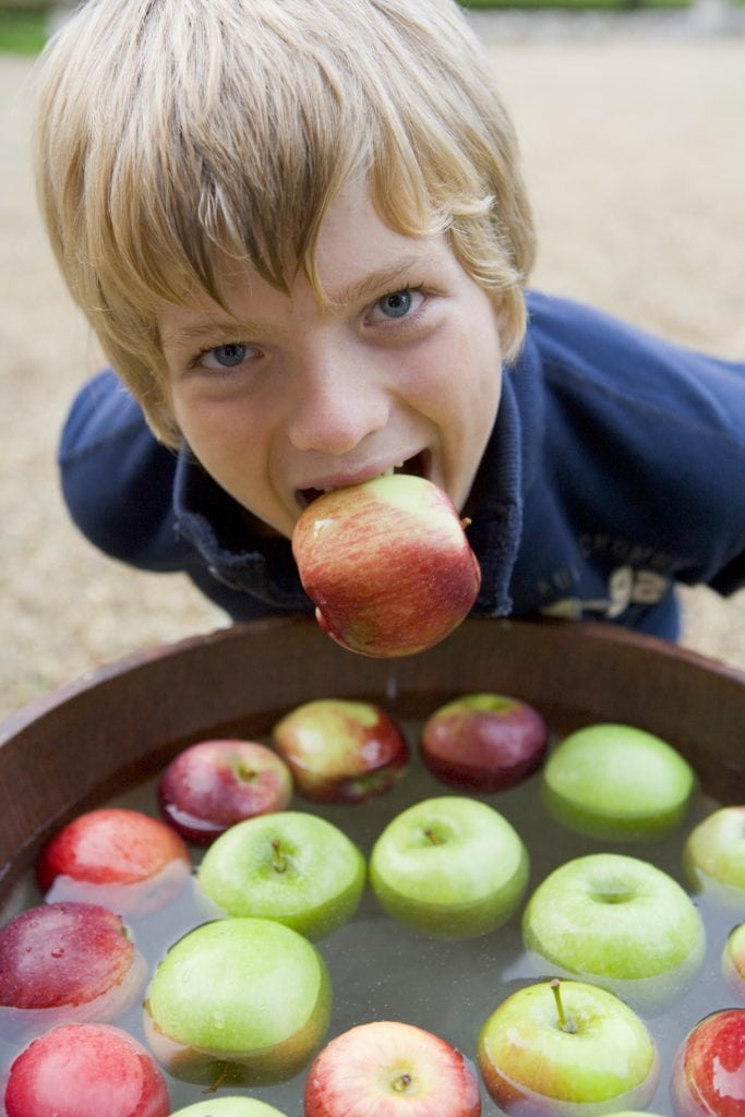Halloween Activities in Cornwall, Apple Bobbing
