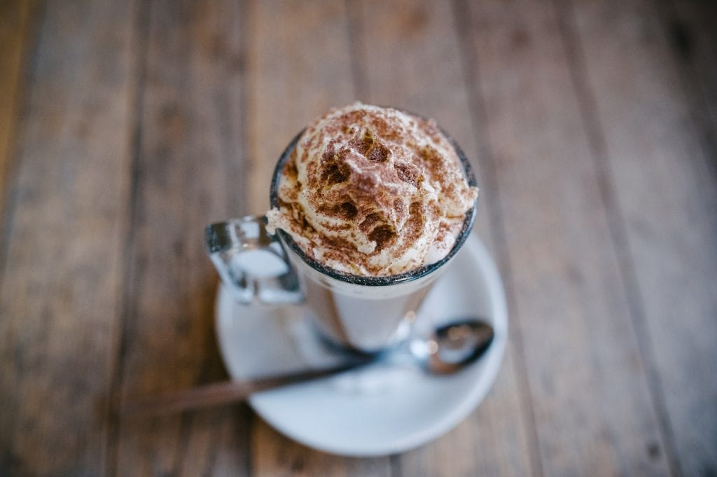 Beach Cafes in Cornwall, Hot Chocolate with Cream