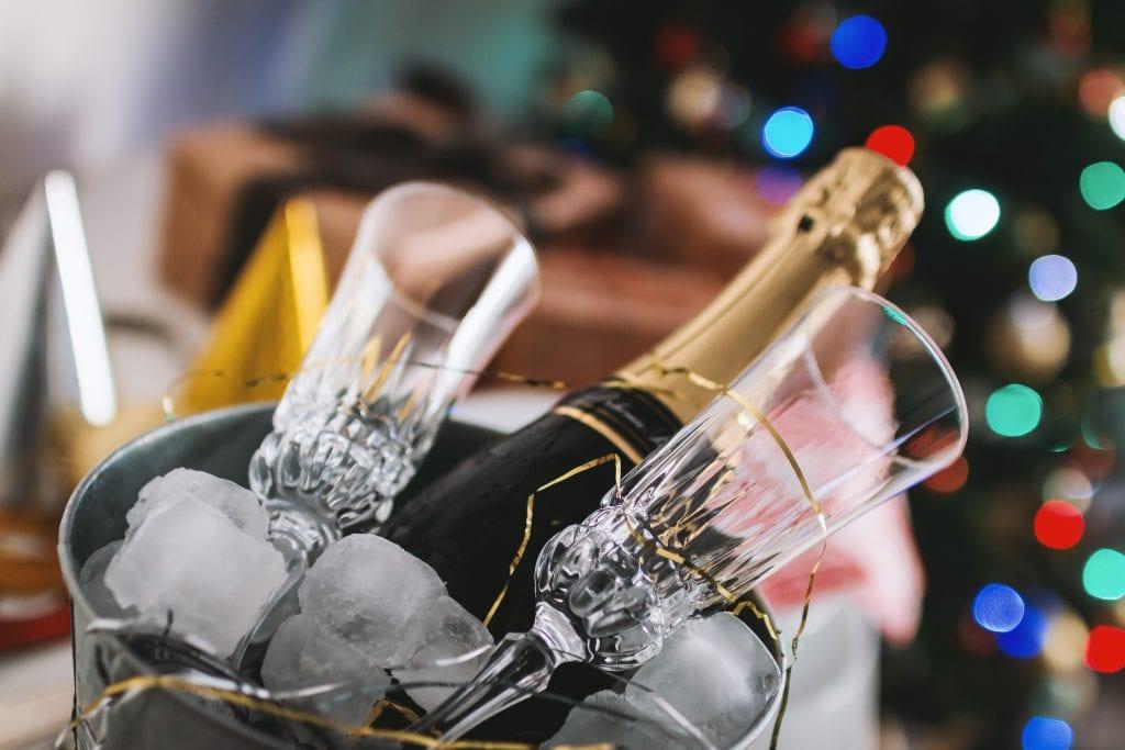 Christmas Dinner Champagne