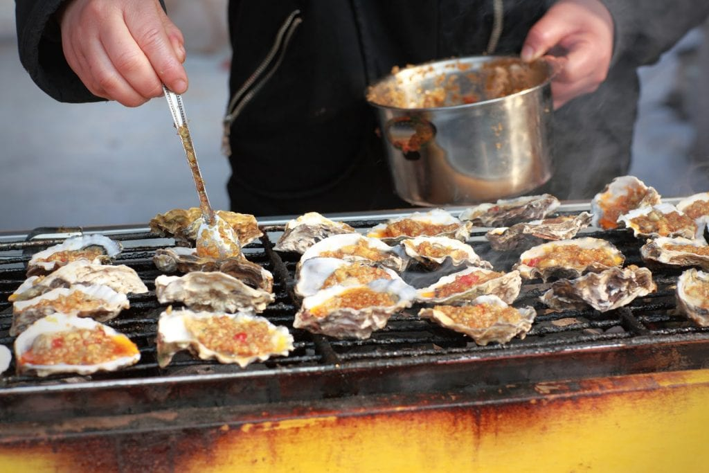 Delicious barbecue oyster