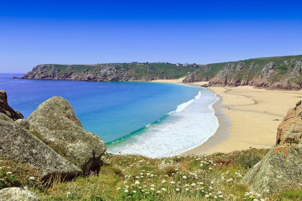 Beautiful Porthcurno beach
