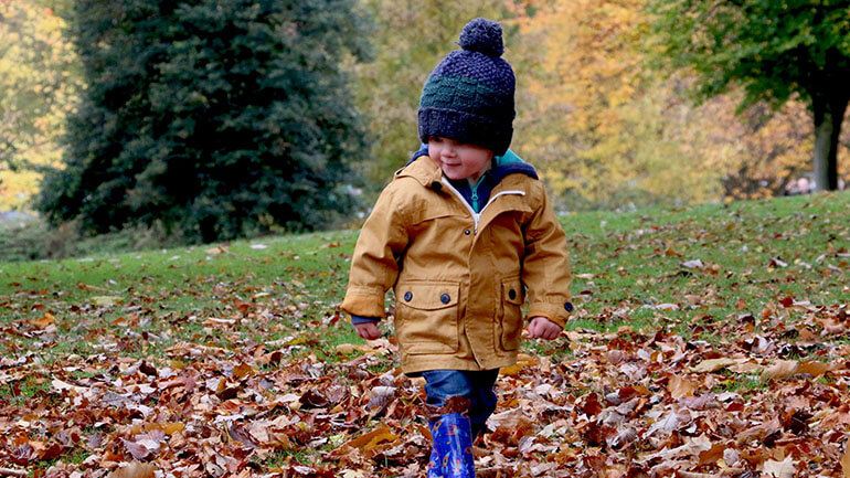 Walks in Cornwall - autumn baby