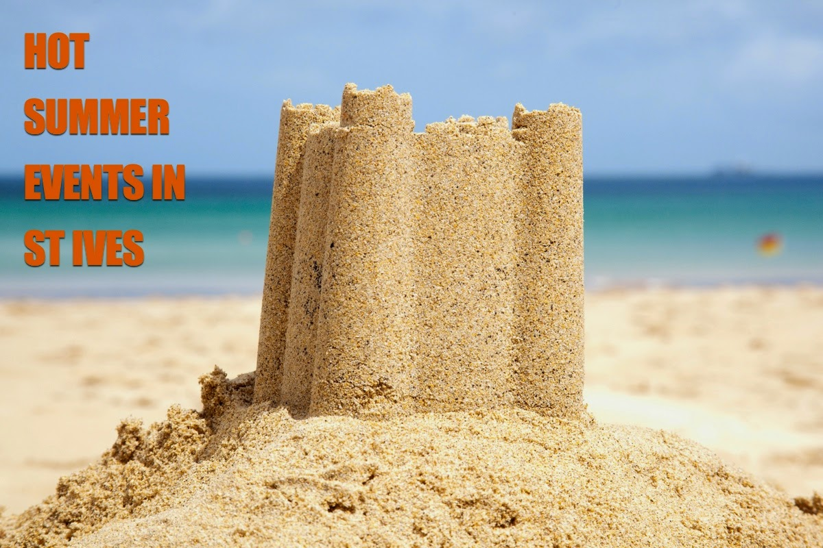 Hot Summer Events In St Ives with sandcastle